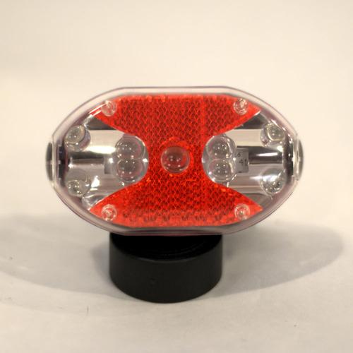 rep luz trasera  bicicleta bicolor 9 led flash intermitente