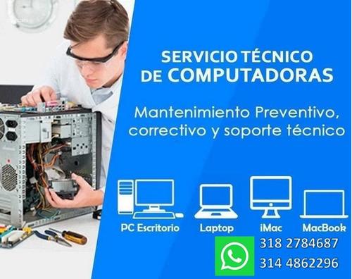 reparacion a domicilio pc, laptops, impresoras, camaras cttv