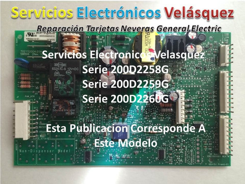 reparacion a tarjeta nevera general electric wkkt 0152-00-02