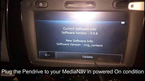 reparación actualización radio media nav renault video mapa