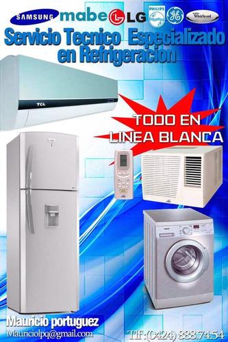 reparación aire refrigeración y toda linea blanca