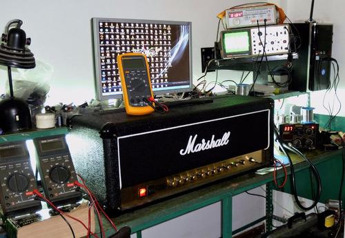 reparación amplificadores marshall fender de guitarra bajo