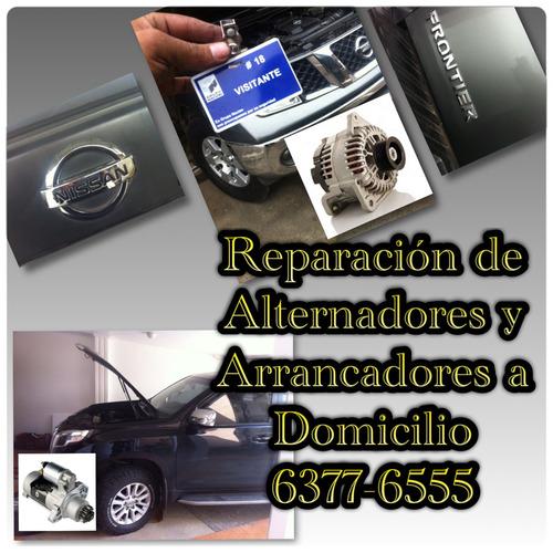 reparacion arrancadores  alternadores  a domicilio 6377-6555
