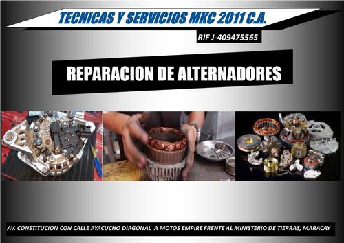reparación arranques, alternadores, electroventiladores, a/a