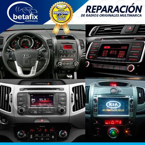 reparación auto radios originales kia o alternos