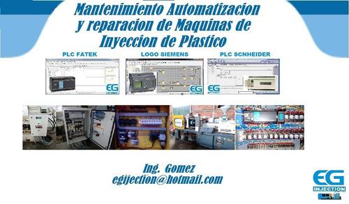 reparacion, automatizacion maquinas de inyeccion de plastico