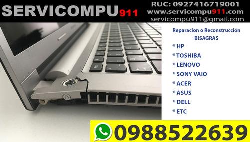 reparación bisagras y carcasa laptop guayaquil visagras