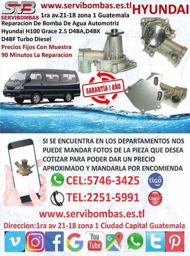 reparacion bombas de agua automotrices hyundai terracan 2.5