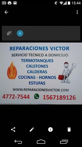 reparacion calefones estufas termotanque calderas orbis