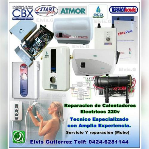 reparación calentadores agua electricos (maracaibo)