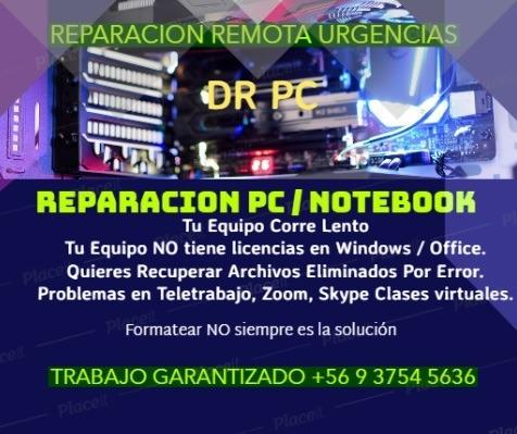 reparación / configuración pc y notebooks 100% remoto