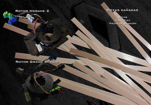 reparación contactor rotativo flex anillo air bag megane 2