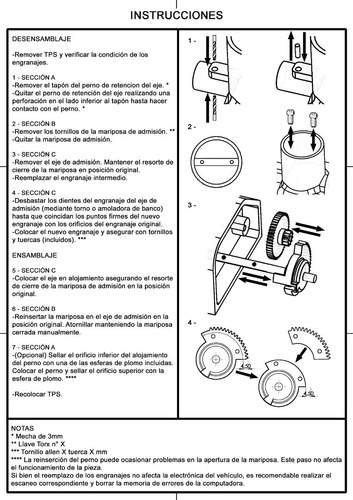 reparacion cuerpo de admision/aceleracion -mariposa fiat 1.4