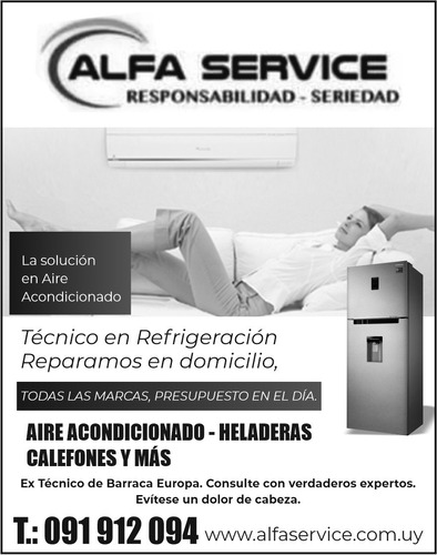 reparación de aire acondicionado y heladeras ,etc
