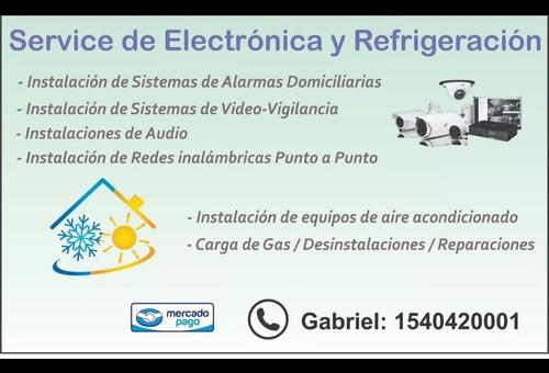 reparación de aire acondicionado/cctv/alarmas