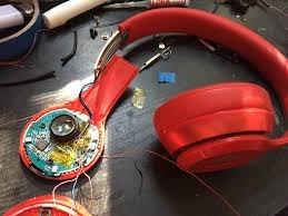 reparación de audífonos skullcandy, beast, bose,sony, etc.