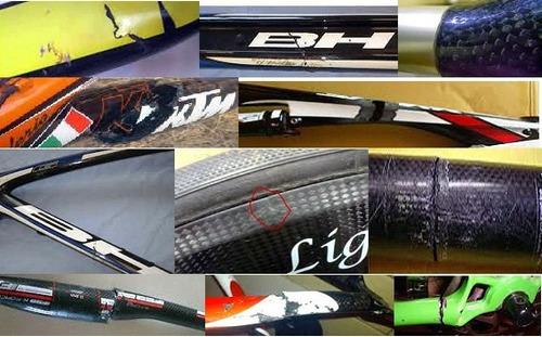 reparacion de bicicletas de fibra de carbono en 72 horas