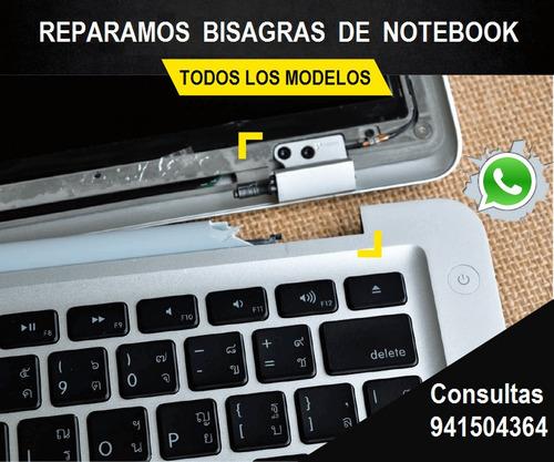 reparación de  bisagras notebook en la comuna de santiago.