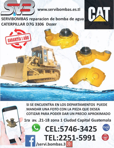 reparacion de bomba de agua automotriz caterpillar 3204 doze