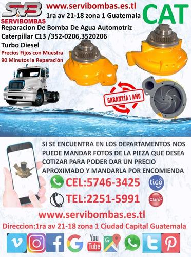 reparación de bomba de agua automotriz caterpillar c7,c9,312