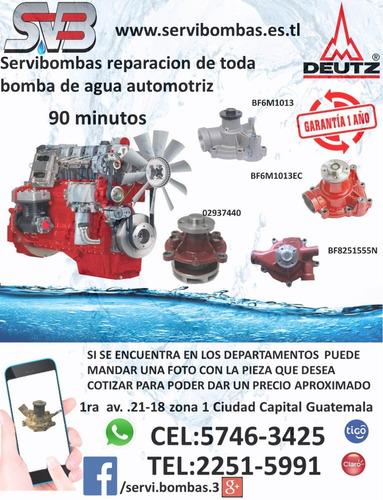reparación de bomba de agua automotriz cummins big cam 3