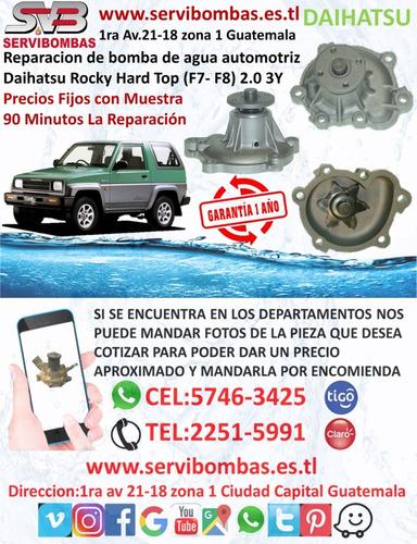 reparación de bomba de agua automotriz daihatsu terios 1.3