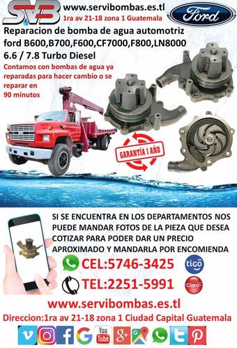 reparación de bomba de agua automotriz ford freestyle 3.0