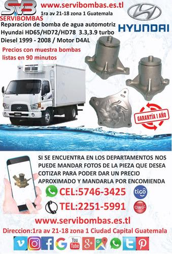 reparación de bomba de agua automotriz hyundai h100 grace 2