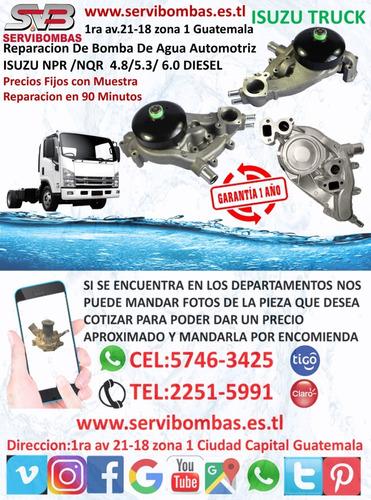 reparación de bomba de agua automotriz isuzu d-max 2.5 d/4ja