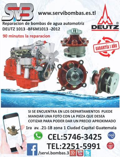reparacion de bomba de agua automotriz isuzu npr 3.9  4bd2,4