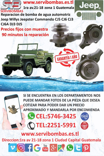 reparación de bomba de agua automotriz jaguar xj6,xj40,xjs 3
