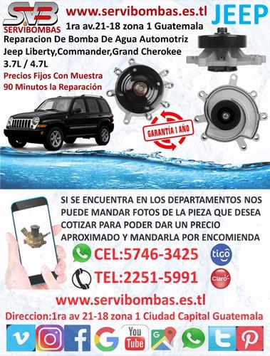 reparacion de bomba de agua automotriz jeep liberty 3.7,4.7