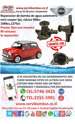 reparación de bomba de agua automotriz jinbei 4f90 guatemal