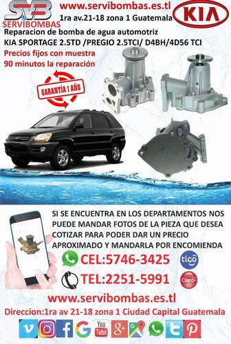 reparación de bomba de agua automotriz kia guatemala