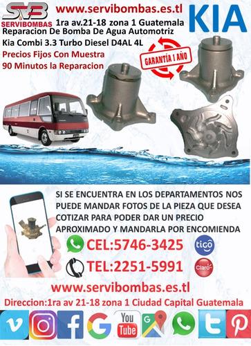 reparación de bomba de agua automotriz kia sorento 2.5 crdi