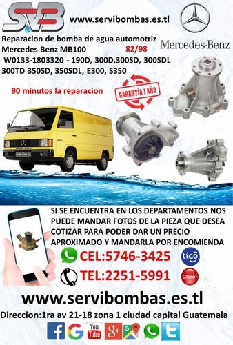 reparación de bomba de agua automotriz mercedes om906,om926
