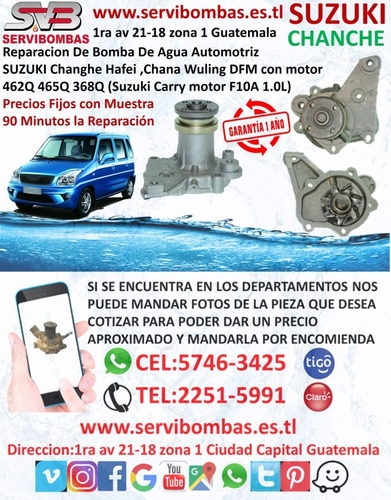 reparación de bomba de agua automotriz suzuki samurai 1.0