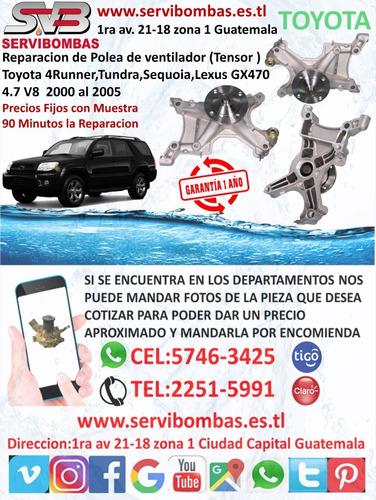 reparacion de bomba de agua automotriz toyota avalon,3.5 2gr
