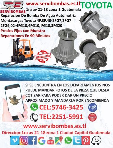 reparación de bomba de agua automotriz toyota hilux 2.4,2.8