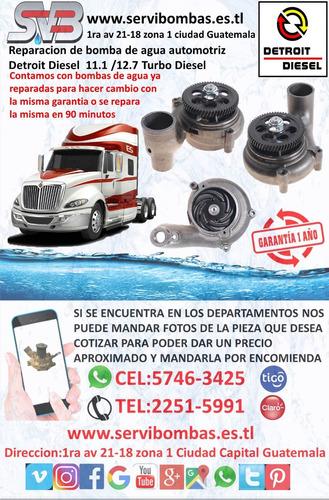 reparación de bomba de agua  detroit diesel serie 53 turbo