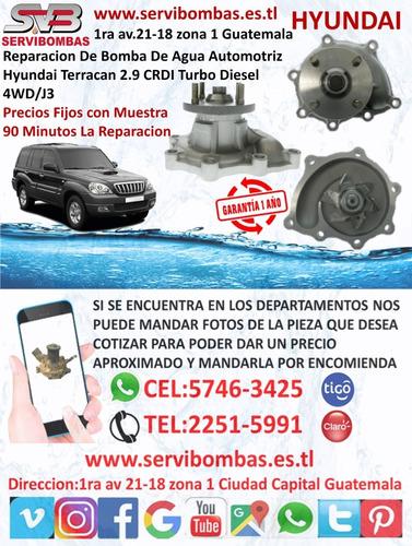 reparacion de bomba de agua hyundai county 3.9 d4ga turbo
