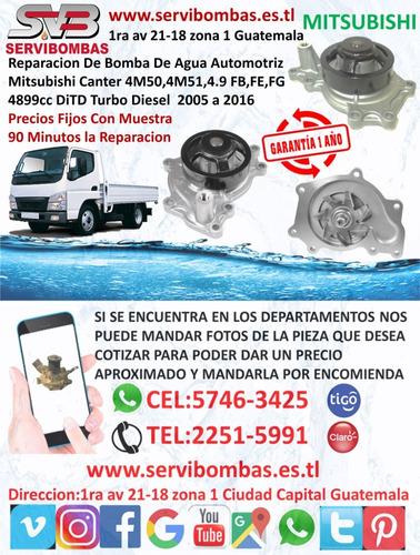 reparación de bomba de agua  mitsubishi l200 4d56 2.5 turbo