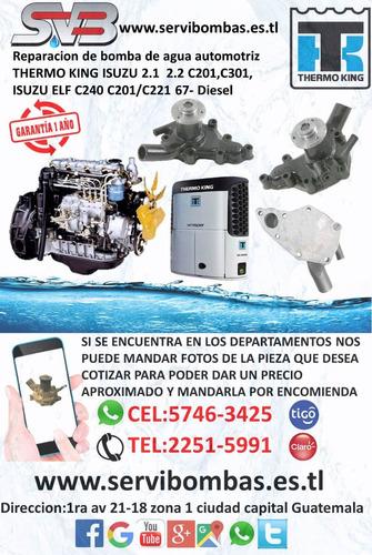 reparación de bomba de agua  subaru guatemala