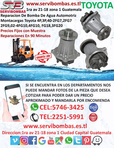 reparación de bomba de agua toyota hilux 2kd 2.5 turbo guate