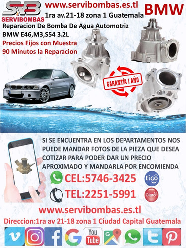 reparación de bombas de agua automotrices bmw guatemala
