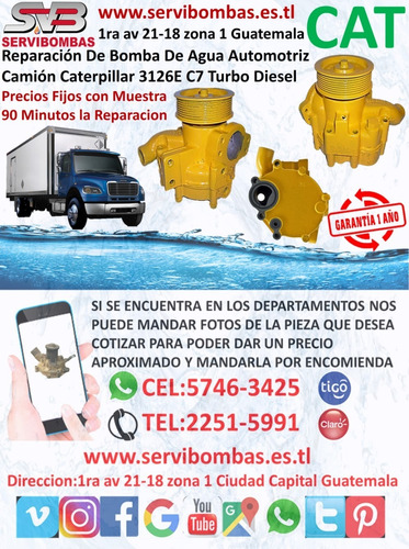 reparación de bombas de agua automotrices caterpillar 416 30
