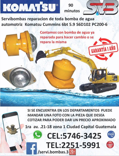 reparación de bombas de agua automotrices caterpillar