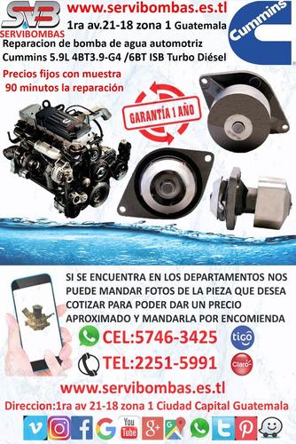 reparación de bombas de agua automotrices chevrolet cruze