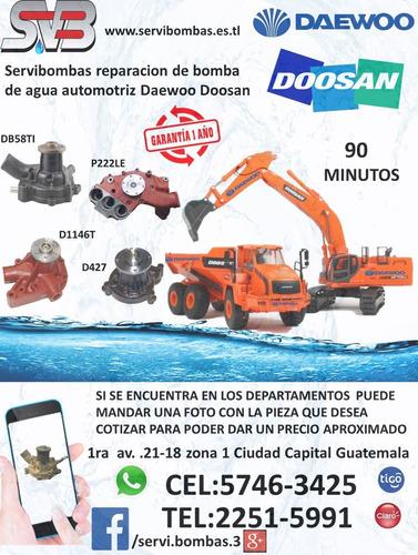 reparación de bombas de agua automotrices hino dutro guatema