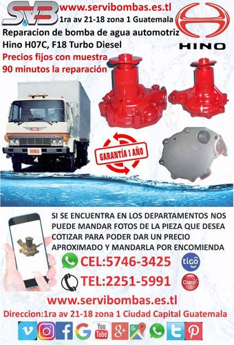 reparación de bombas de agua automotrices hino fb w04d,km505